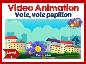 French Song in video animation - Vole vole vole papillon