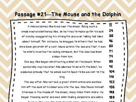 6th Grade Fluency Passages with Comprehension Questions Set #1-30