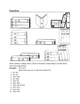 Prepositions Bookcase worksheet