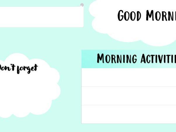 Morning Slides Templates