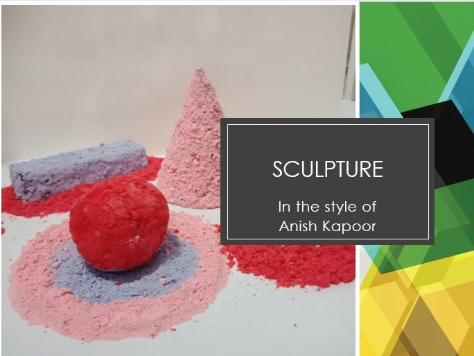 Abstract sculpture in the style of Anish Kapoor