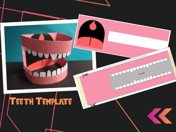 Teeth Model Printable Template