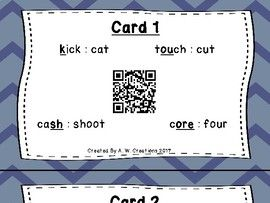 Circle the Sounds QR Code Task Cards Sets 1 to 3