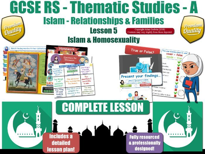 Homosexuality & Homophobia - Islamic & Muslim Views (GCSE RS - Islam -Relationships & Families) L5/7