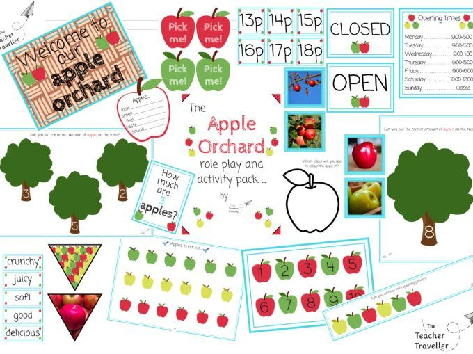 The Apple Orchard Role Play Pack and Activities