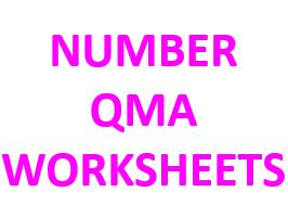 QMA Worksheet - Number Topics