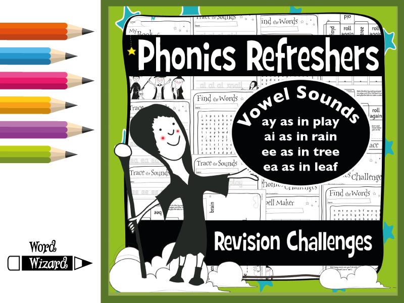 Phonics Refresher Vowels 1: ay, ai, ee, ea