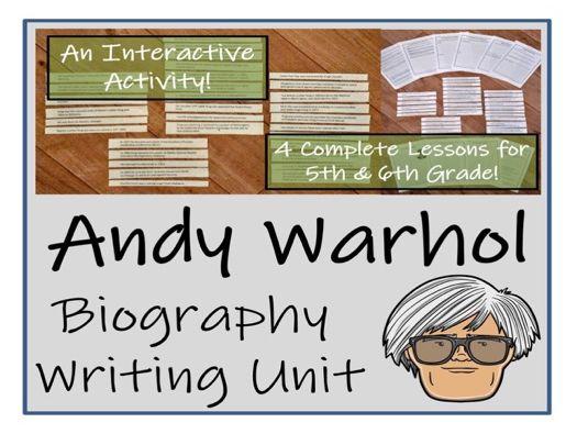 UKS2 Literacy - Andy Warhol Biography Writing Unit