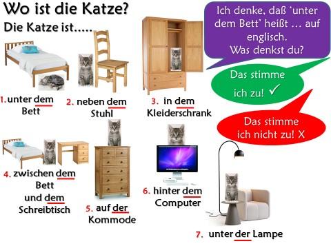 Mein Schlafzimmer - Prepositions