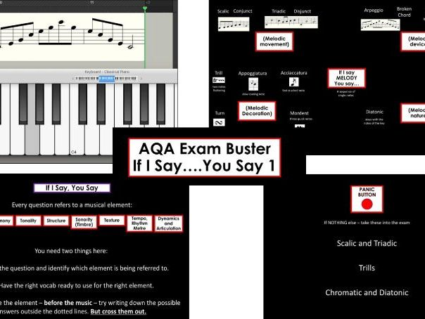 AQA GCSE MUSIC Exam Buster: I Say, You Say - Melody