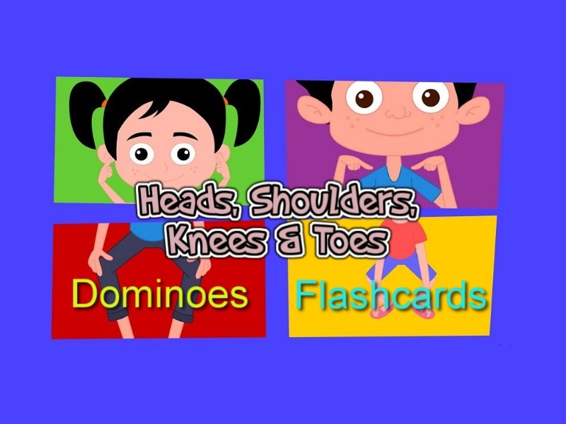 Heads, Shoulders, Knees and Toes: ESL lesson with printable flashcards and dominoes
