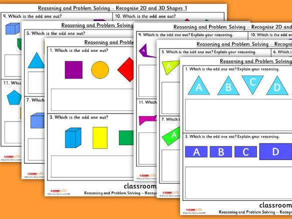 FREE Year 2 Recognise 2D and 3D Shapes WRM Spring Block 3 Reasoning and Problem Solving Pack