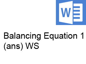 Practice on Balancing Chemical Equations