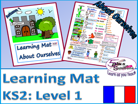 Primary KS2 French LEARNING MAT: About Ourselves (Level 1)