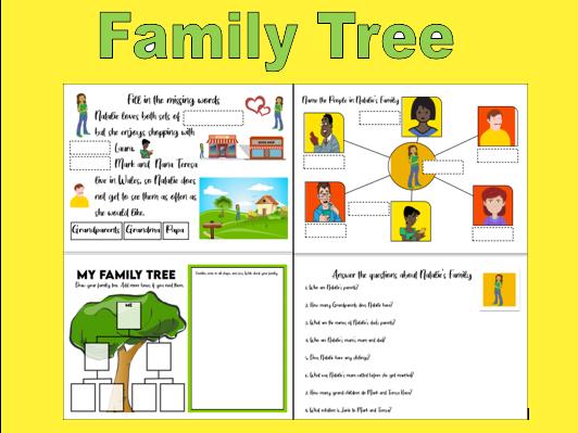Family Tree Activity Sheets KS1