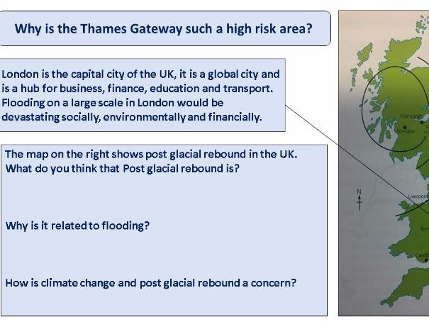 Vulnerable areas due to rising sea levels - Thames Gateway (AQA and Eduqas) coastal management
