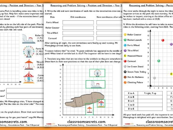 Position and DIrection Consolidation Year 5 Summer Block 3 Reasoning and Problem Solving