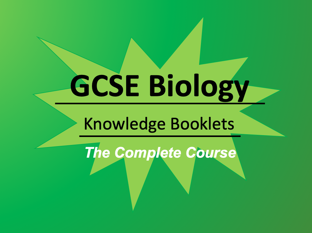 AQA Biology The Complete Course: Knowledge Booklets