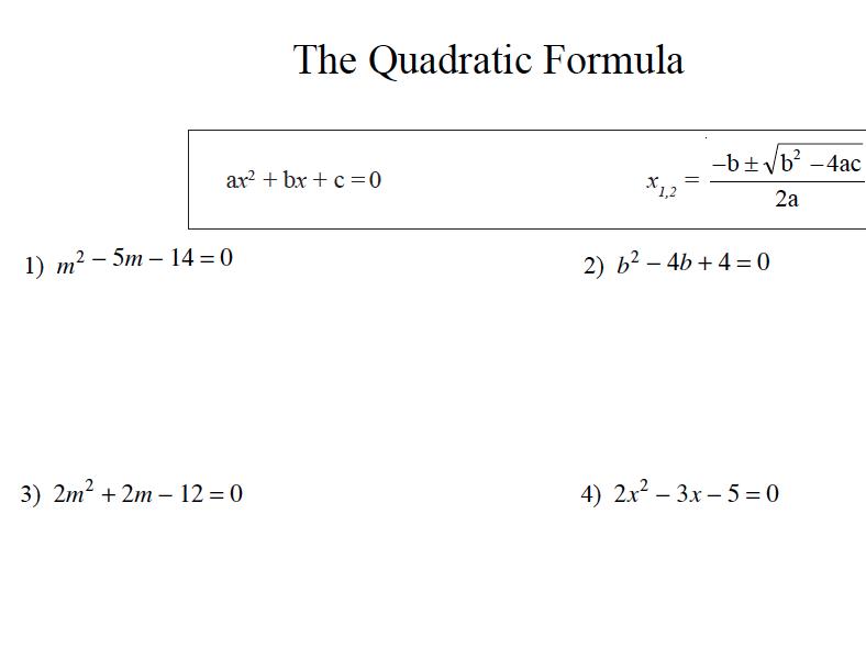 GCSE Maths Revision Quadratic Formula