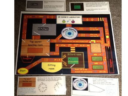 Year 3 and Lower KS2 Maths board game (all national curriculum objectives)