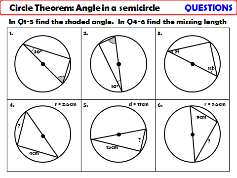 Circle Theorem - Angle in a Semicircle