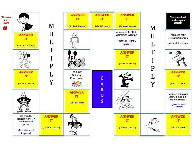 KS2 Multiplication Skills - Board Game