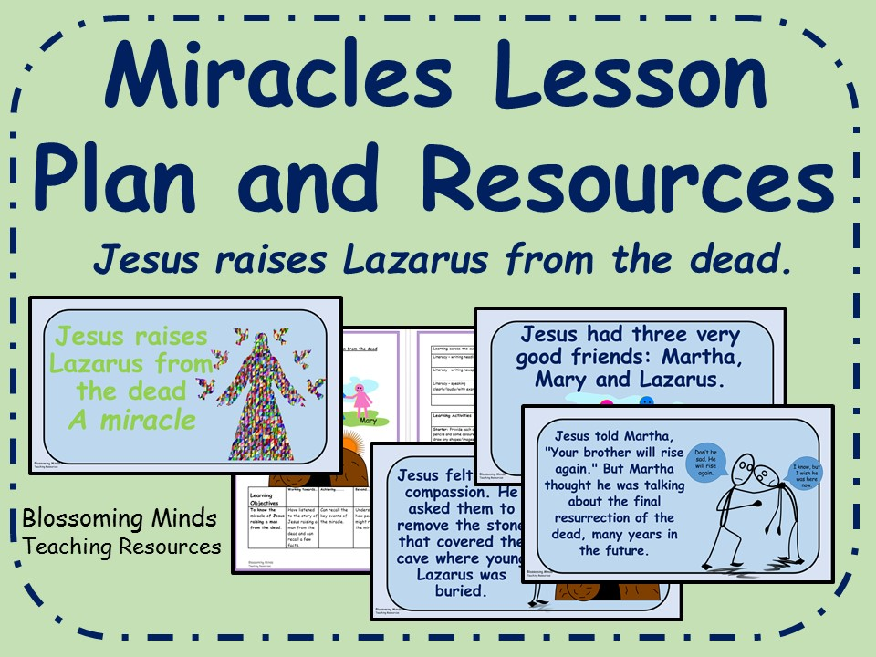 KS2 RE plan and resources -Jesus' Miracles - Jesus raises a man from the dead