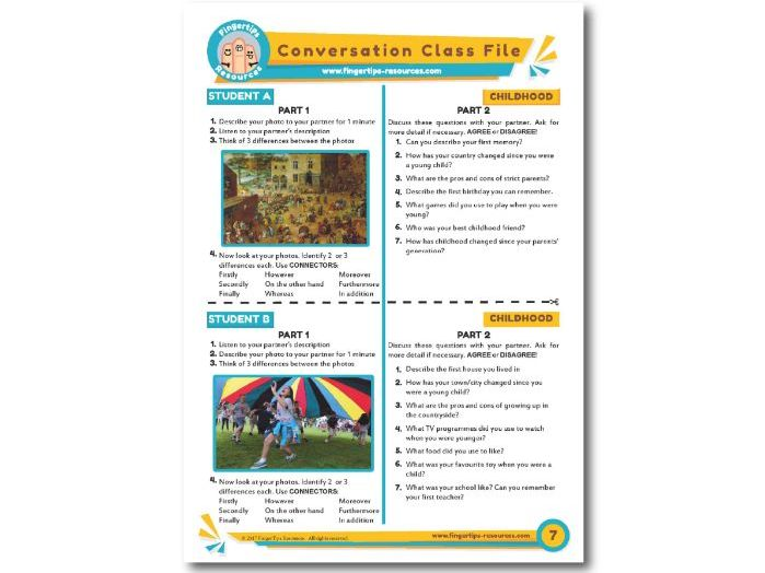 Childhood  - ESL Conversation Activity