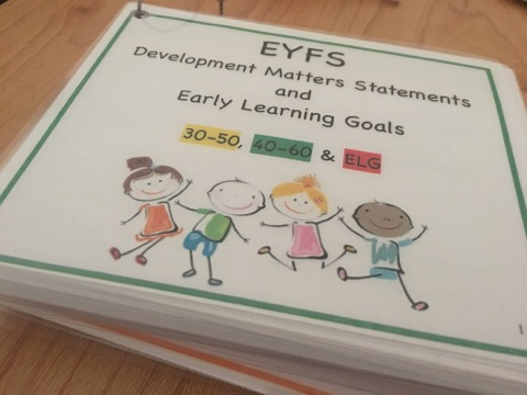 EYFS Cards, All Areas | 30-50 & 40-60 Statements and Early Learning Goals