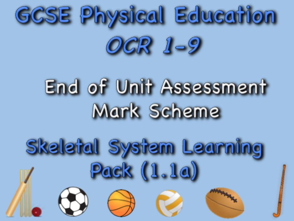 Skeletal System GCSE OCR PE (1.1a) Mark Scheme