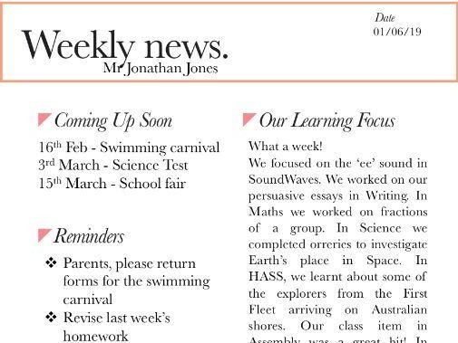 Mod Scandi Newsletter template