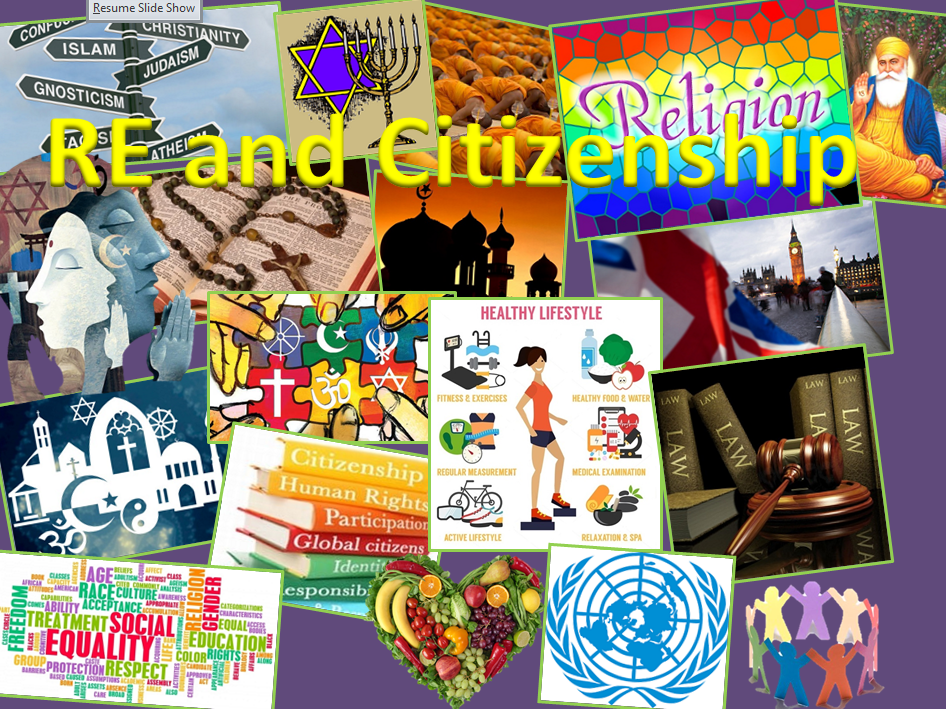 Welcome to Citizenship and RE display