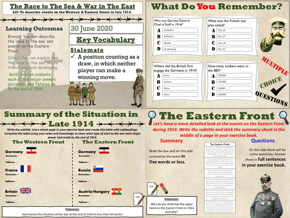 Conflict & Tension 1894-1918: The Race to The Sea & The Eastern Front
