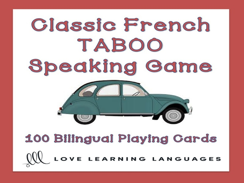 GCSE FRENCH: Classic French Taboo Speaking Game - Jeu de Tabou en Français