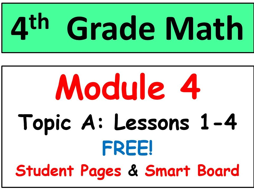 Grade 4 Math Module 5 Topic G, lessons 35-40: Smart Bd, Stud Pgs, Reviews,  HOT Q