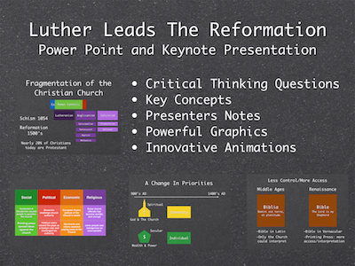 Luther Leads The Reformation Power Point and Keynote Presentations