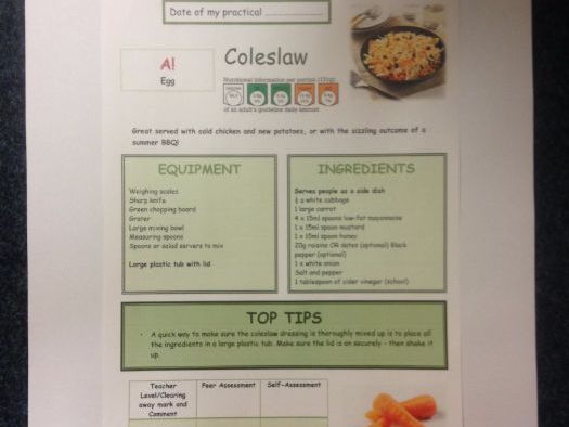 Coleslaw FULL Recipe Sheet