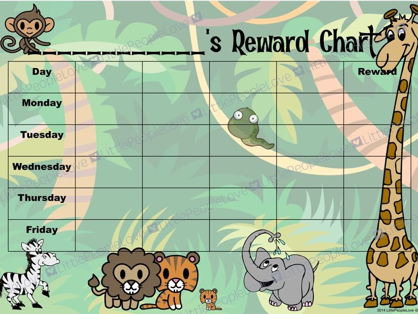 Reward Chart - Jungle