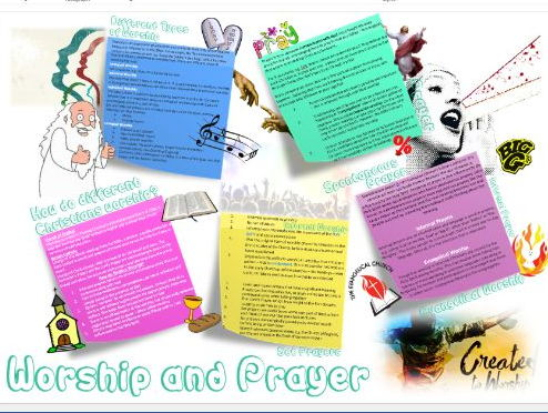Christianity: Worship and Prayer Learning Mat Revision Sheet