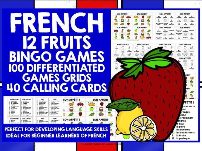 FRENCH FRUITS BINGO
