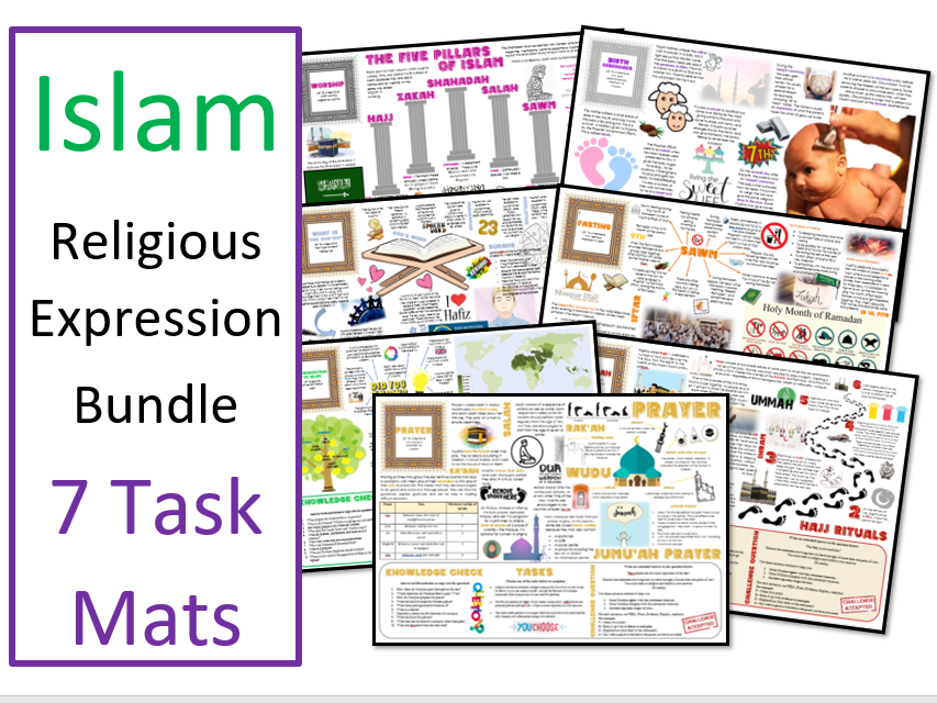 Islam: Religious Expression Task Mat Bundle