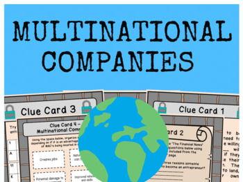 Multinational Companies (MNCs) - Escape Room