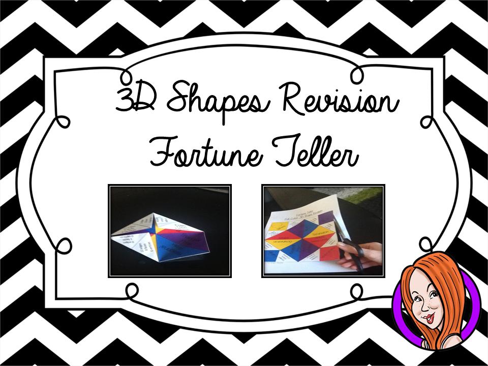 3D Shapes Revision - Fortune Teller