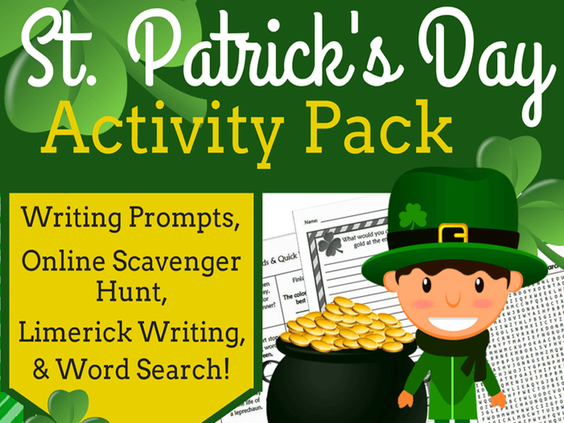 St. Patrick's Day Activity Pack (Mid to Upper Elementary)