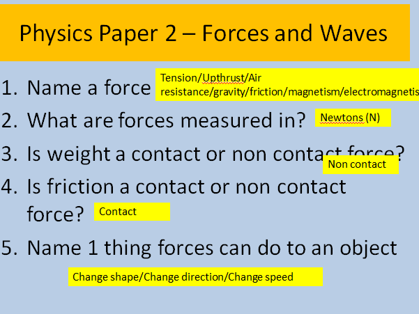 AQA Triology Physics Paper 2 Forces and Waves Revision
