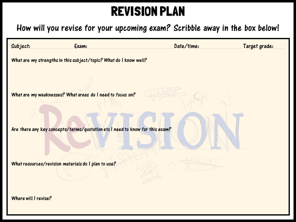 Revision plan