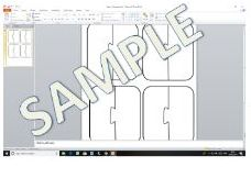 2 Piece Editable Jigsaw Template