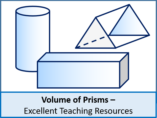 Geometry: Volume 1 - Volume of Prisms (+ worksheet)