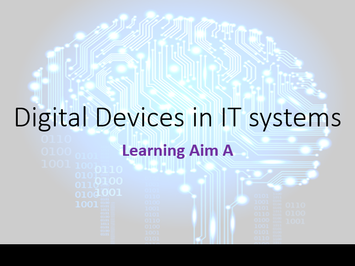BTEC Nationals in Information Technology 2016 - Unit 1 - Learning Aim A