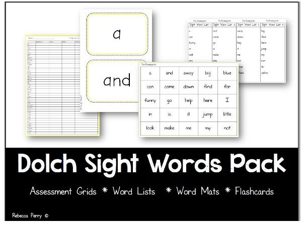 Dolch Sight Words Pack - Activities & Resources - Assessments - Word Lists / Mats - Flashcards